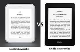 Kindle Paperwhite Vs Nook Glowlight