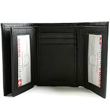 tri fold windows mens trifold wallet extra capacity 10 inside slots 2 id windows by alpine swiss