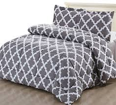 printed comforter set with 2 pillow shams