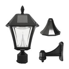 gama sonic gs 105fpw baytown ii solar outdoor led light fixture pole post wall mount
