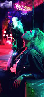 1125x2436 No Smoking Cyborg Girl 4k ...