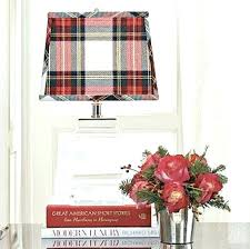 holiday chandelier shade plaid lamp shades tartan lampshade red