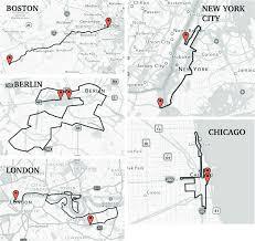 Tokyo Marathon Elevation Chart Course Maps Of Boston New York City Berlin Chicago And