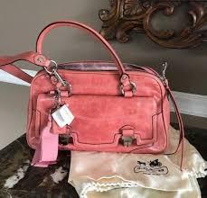 Coach Poppy Leather Pushlock Satchel Rose 17888   eBay