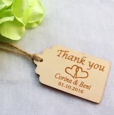 thank you tags for wedding favors 100pcs personalized engraved thank you wedding tags wooden tags