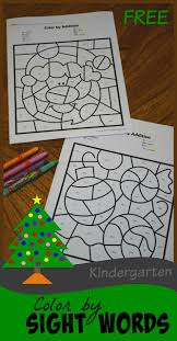 Looking for a book or two of your own?? Free Christmas Color By Sight Word Pages