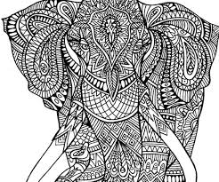 Adult Coloring Pages Elephant Color Bros