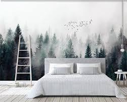 Kopen Goedkoop Beibehang Aangepaste Behang Moderne Verse Fog Bos