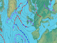 surface pressure charts aviation weather maps