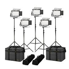 Led Light Kit Rayden Daylight 5 Point Led Light Kit W 5x Rw5 Includes Gold V Mount Battery Plates Stands And Bags