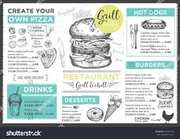 How To Design A Dinner Menu Menu Placemat Food Restaurant Brochure Menu Template Design