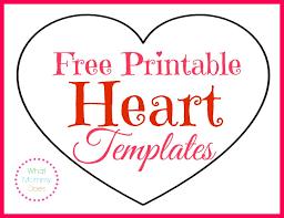 8 X 10 Heart Template Free Printable Heart Templates Large Medium Small