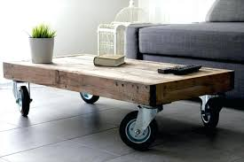 table on casters. medium size of coffee table casters reclaimed pallet with wheels glass top on e
