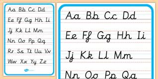 Upper And Lowercase Abc Chart Free Lowercase And Capital Cursive Alphabet Letters
