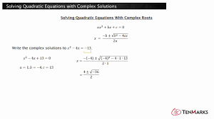 solving quadratic equations with complex solutions n cn 8