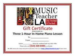 Piano Certificate Template Music Lessons Gift Certificates Piano Voice Violin More