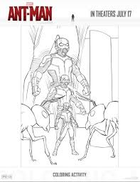 Small Picture Ant Man Activity and Coloring Pages This Fairy Tale Life