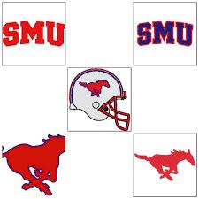 University Logo Embroidery Designs 5 Smu Southern Methodist University Mustangs Instant