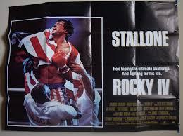 Rocky 4 1985 Sylvester Stallone Film Poster - UK Quad