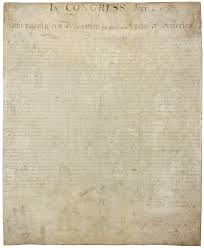 united states declaration of independence  the signed copy of the declaration is now badly faded because of poor preserving practices in the 19th century it is on display at the national archives in