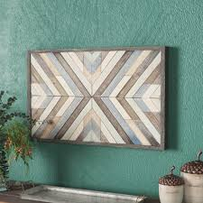 rustic chevron framed graphic art print on wood
