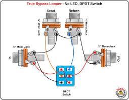 guitar dpdt switch wiring diagram guitar diy wiring diagrams true byp looper no led dpdt switch wiring diagram