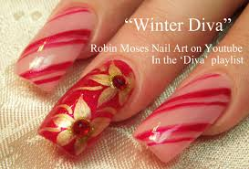 Easy Christmas Nails | DIY Diva Candy Stripe Nail Art with Gold ...