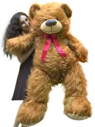 5 Foot <b>American</b> Made Giant Brown Teddy Bear <b>62 Inches</b> Soft ...