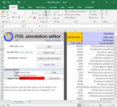 Itol Annotation Editor For Spreadsheets