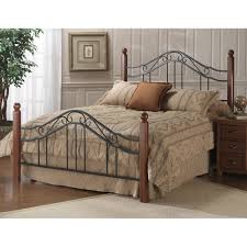 wrought iron and wood furniture. madison wood u0026 iron bed in black cherry wrought and furniture