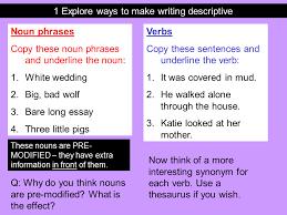 descriptive writing presentation english language sliderbase descriptive writing