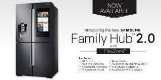 samsung tv refrigerator. the new samsung family hub 2.0 smart refrigerator builds off success of last year\u0027s refrigerators. generation tv