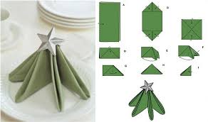 ... 10 Best DIY Napkin Folding Tutorials for Christmas - Festive Christmas  Tree Napkin folding tutorial