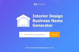 interior design business name generator