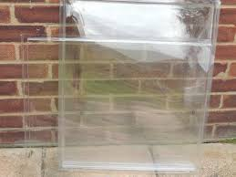 shed acrylic perspex windows 640mm x 520mm x 6 brand new never used