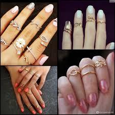 кольцо на фалангу пальца фото