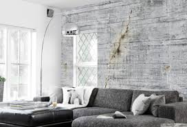 Pin by Twila Thomas on Dream Home | Scandinavian decor living room,  Concrete wallpaper, Living room designs