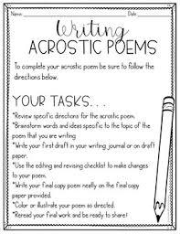 Acrostic Poem Templates