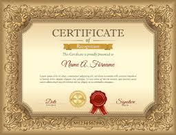 Luxury Golden Certificate Template Vector Free Download