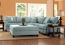 ... Some Klaussner Canyon Light Blue Sectional Sofa In Sky Microsuede  Canyonsectskyblue Contemporary Beautiful Furniture Fabric ...