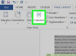 How To Make Two Columns In Microsoft Word Wikihow