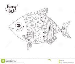 рыбы смешные иллюстрация графика расцветки книги цветастая
