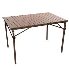 wood look cooking table