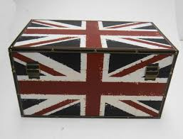 UNION JACK ENGLAND STRONG WOODEN STORAGE UNIT CHEST BOX TRUNK ...