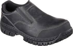 skechers work boots. skechers work relaxed fit hartan steel toe slip on shoe boots u