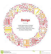 Design Thinking Chart Design Thinking Banner Card Circle Vector Stock Vector