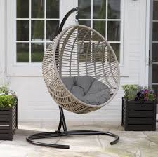 hanging wicker egg swinging chair seat cushion hammock swing stand large outdoor