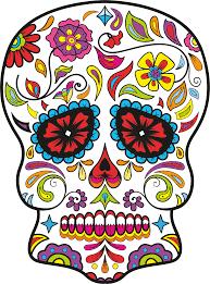 Coloriage Crane En Sucre Du Mexique Imprimer