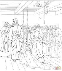 Jezus Geneest Verlamde Man Kleurplaat Gratis Kleurplaten Printen