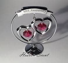image is loading 40th ruby wedding anniversary gift ideas with swarovski